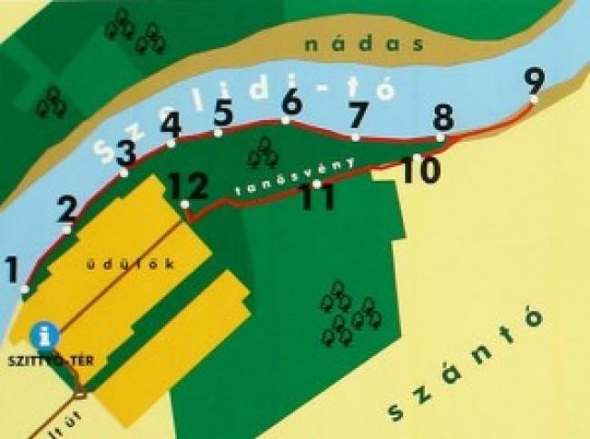 Kékmoszat Tanösvény Szelidi-tó Természetvédelmi Terület, Dunapataj