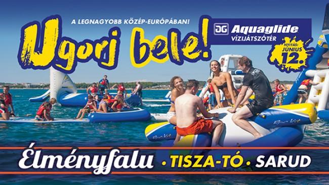 Aquaglide vízi-játszótér - Élményfalu, Sarud